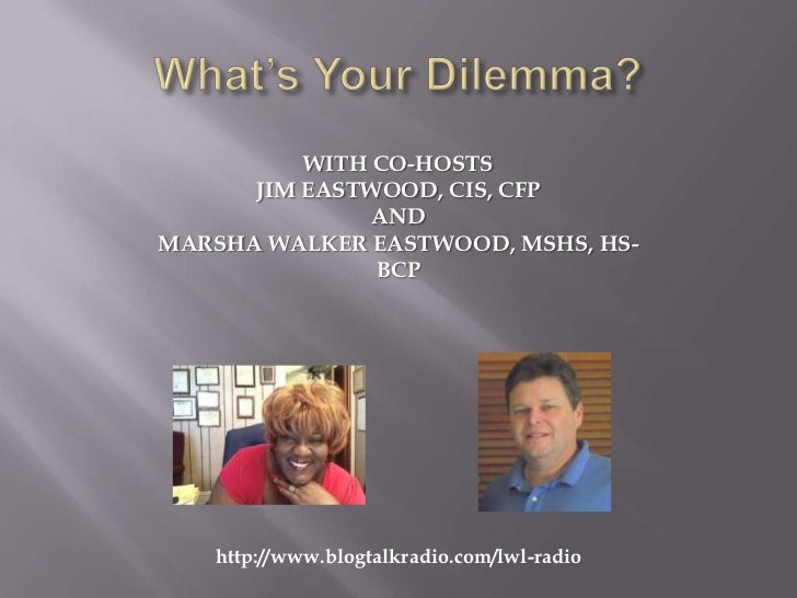 WITH CO-HOSTS      JIM EASTWOOD, CIS, CFP               ANDMARSHA WALKER EASTWOOD, MSHS, HS-               BCP   http://ww...