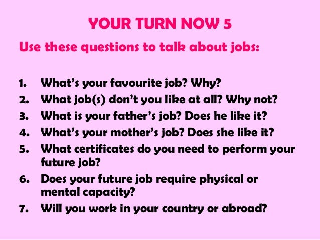 what is your job about
