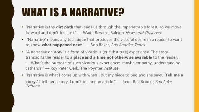 how to begin a narrative