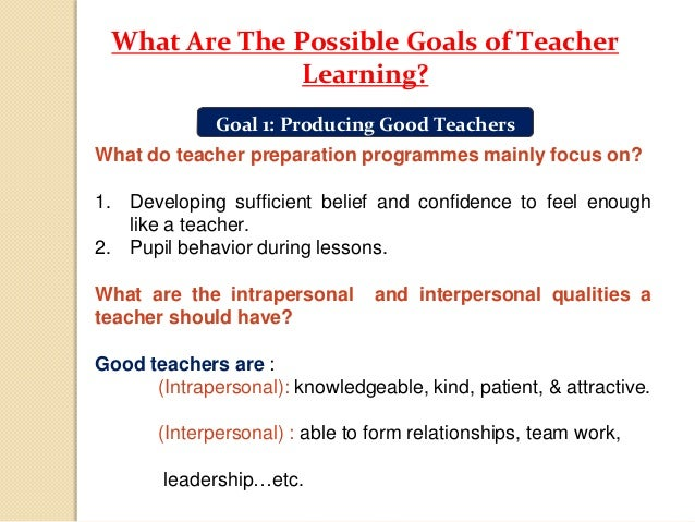 What Teachers Need To Learn