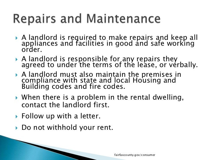 notice to tenant to make repairs