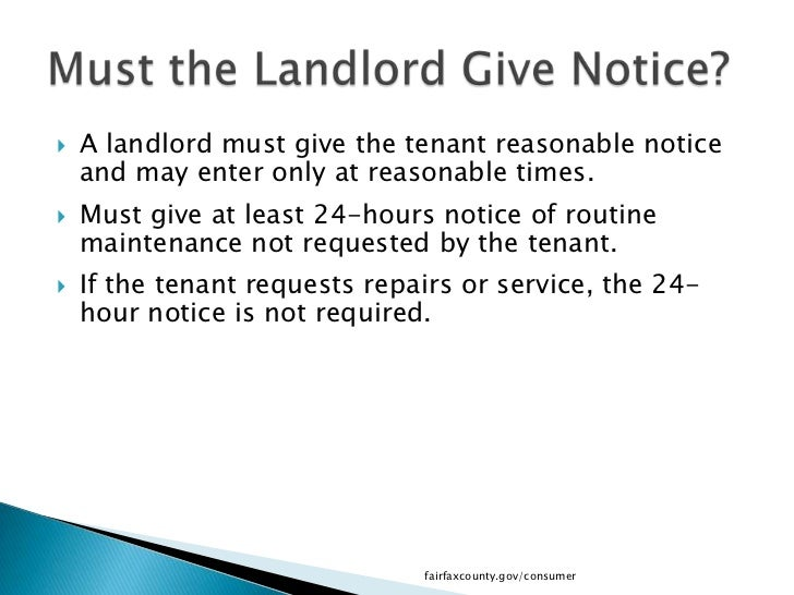 repair notice to tenant