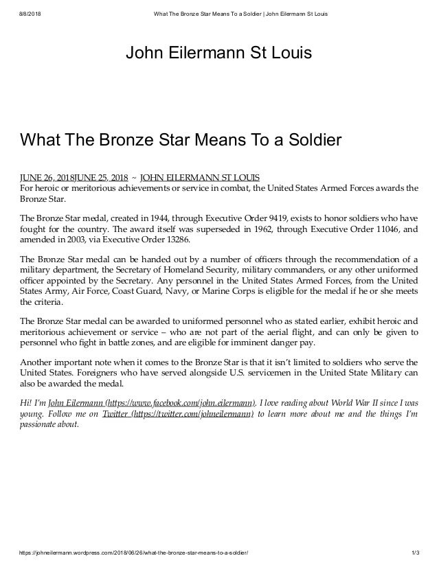 what it means to be a soldier