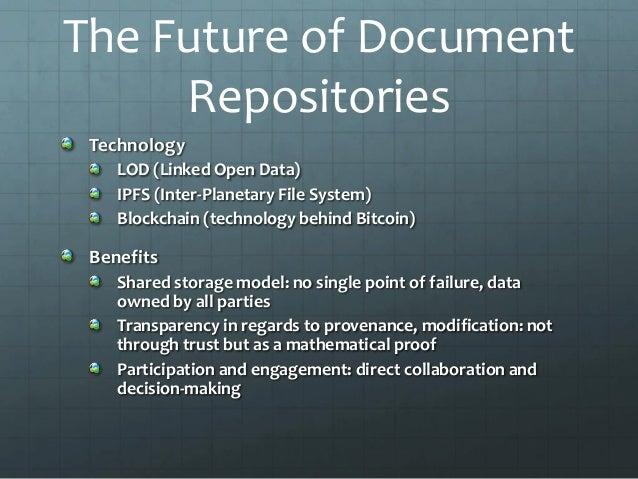 What the future holds: Metadata and Document Repositories Stanislav …
