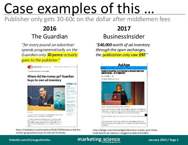 January 2019 / Page 2marketing.scienceconsulting group, inc. linkedin.com/in/augustinefou Case examples of this … Publishe...