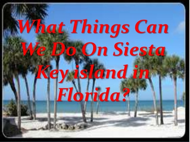 What Things Can We Do On Siesta Key island in Florida?