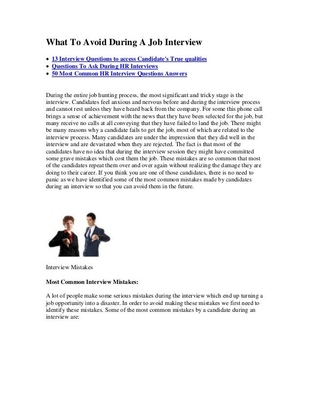 What To Avoid During A Job Interview  13 Interview Questions to access Candidate's True qualities  Questions To Ask Duri...