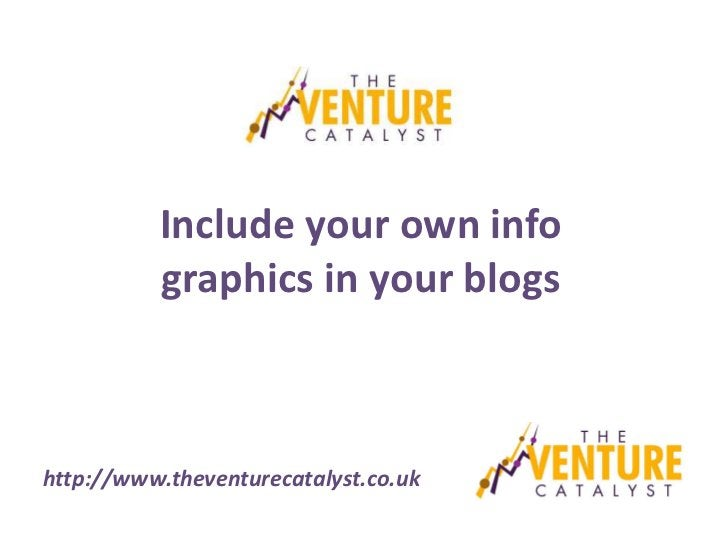 Include your own info          graphics in your blogshttp://www.theventurecatalyst.co.uk