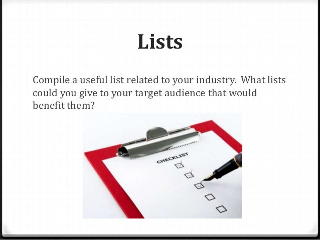 What to blog about in compumatrix Slide 2