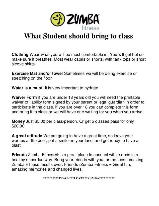 What To Bring To Class
