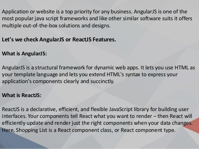 What to Choose for Web Development? AngularJS OR ReactJS