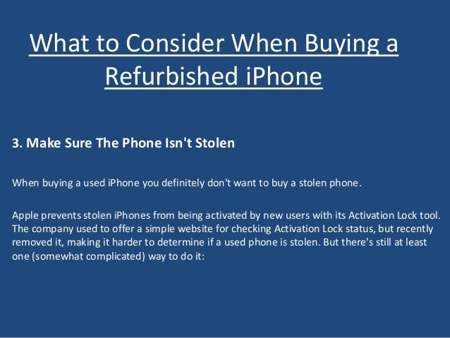 What to Consider When Buying a Refurbished iPhone