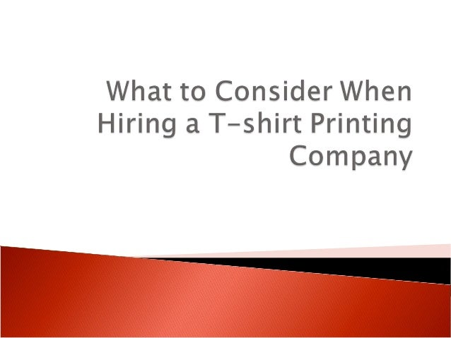  Not all t-shirt printing companies are created equal.  If you use custom t-shirts as an affordable way to promote your ...