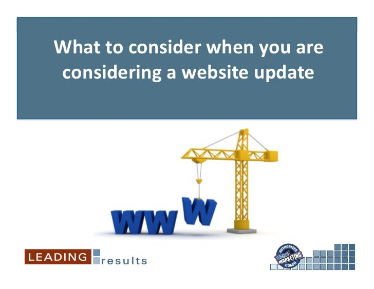 What to consider when you are considering a website update
