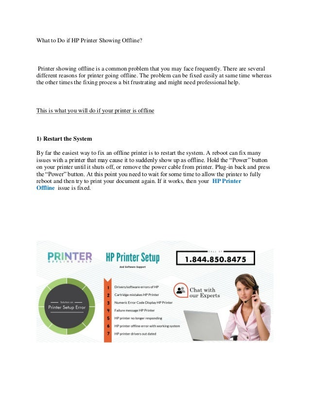 What to do if hp printer showing offline