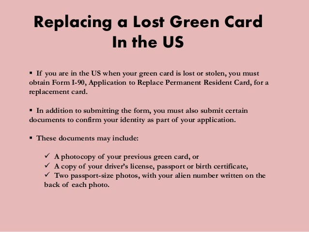 What To Do If Your Green Card Is Lost Or Stolen