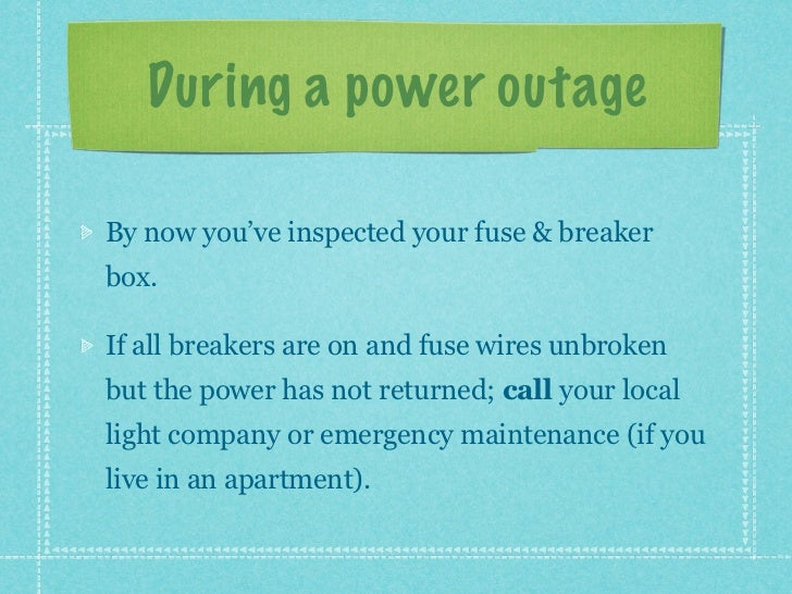 what to do during a power outage 6 728?cb=1344706573 what to do during a power outage power outage fuse box at bakdesigns.co