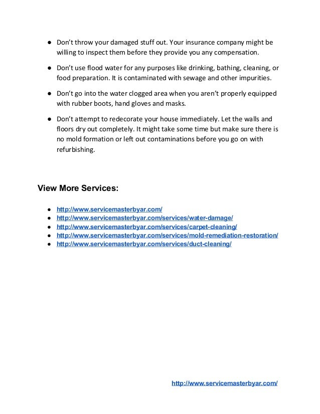 What To Do & What Not To Do After Flood Damage Slide 3