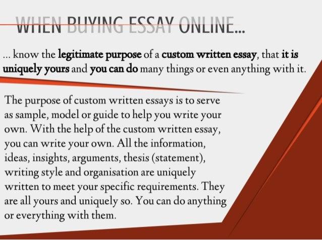 Buying essay