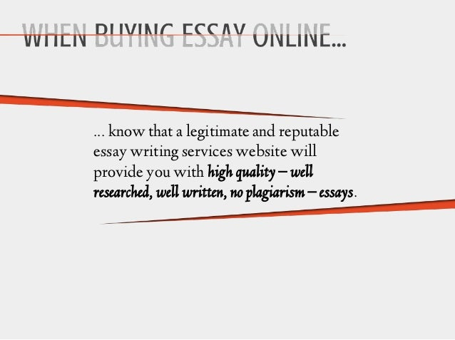 Buying essays online