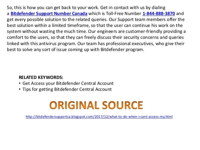 What to do when i can't access my bitdefender central account?