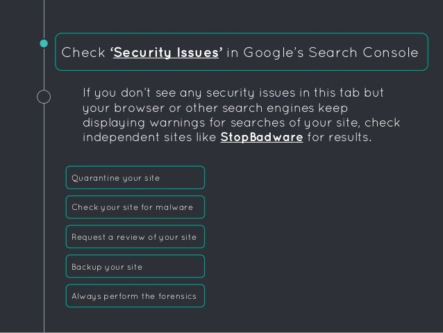 What to do When Your WordPress Site is on Google's Blacklist slideshare - 웹