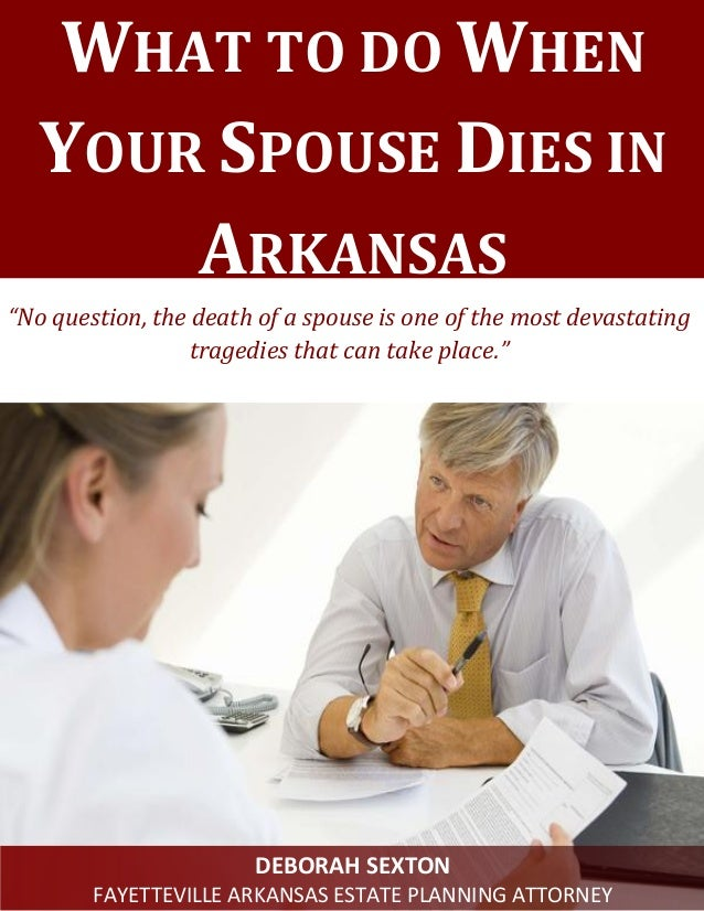 What are some things you need to do after your spouse dies?