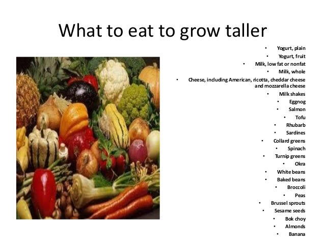 What To Eat To Grow Taller