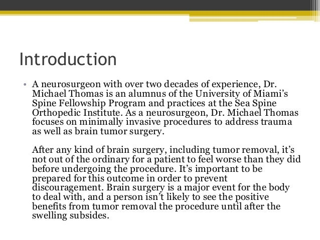 What to Expect after Brain Tumor Surgery