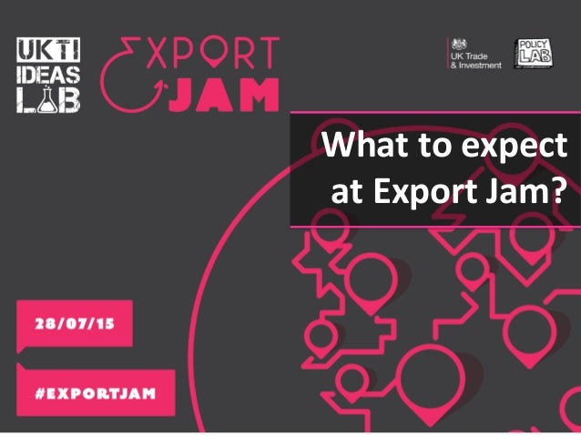 What to expect at Export Jam?