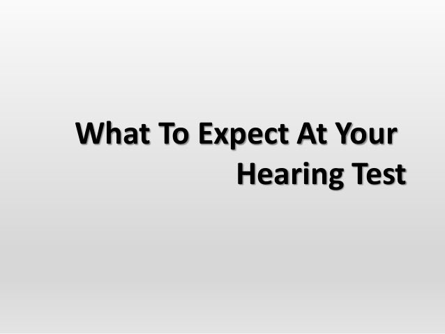 What To Expect At Your Hearing Test