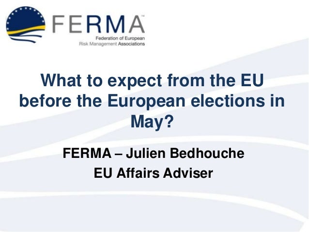 What to expect from the EU before the European elections in May? FERMA – Julien Bedhouche EU Affairs Adviser
