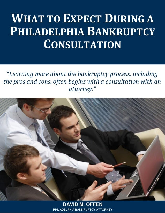 """""""Learning more about the bankruptcy process, including the pros and cons, often begins with a consultation with an attorne..."""