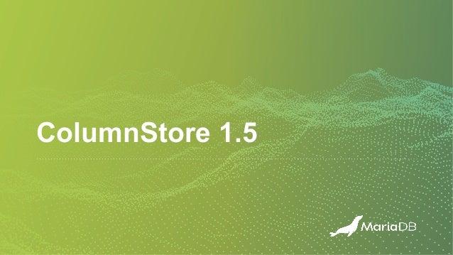 ColumnStore 1.5