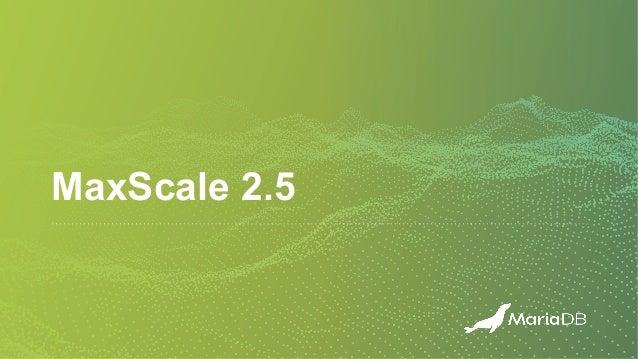 MaxScale 2.5