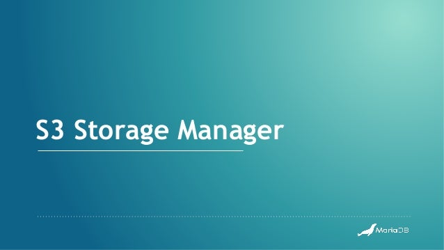 S3 Storage Manager