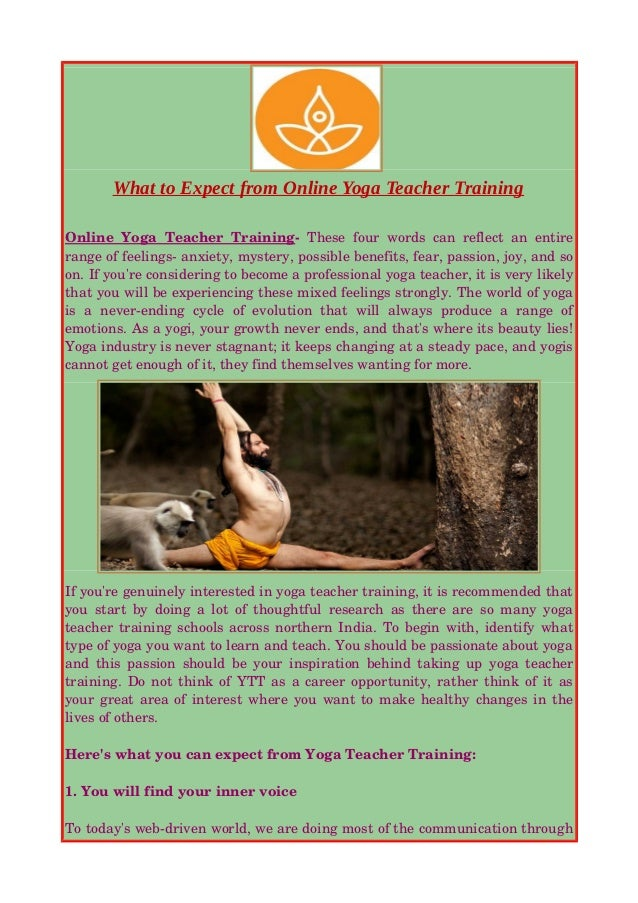 What To Expect From Online Yoga Teacher Training