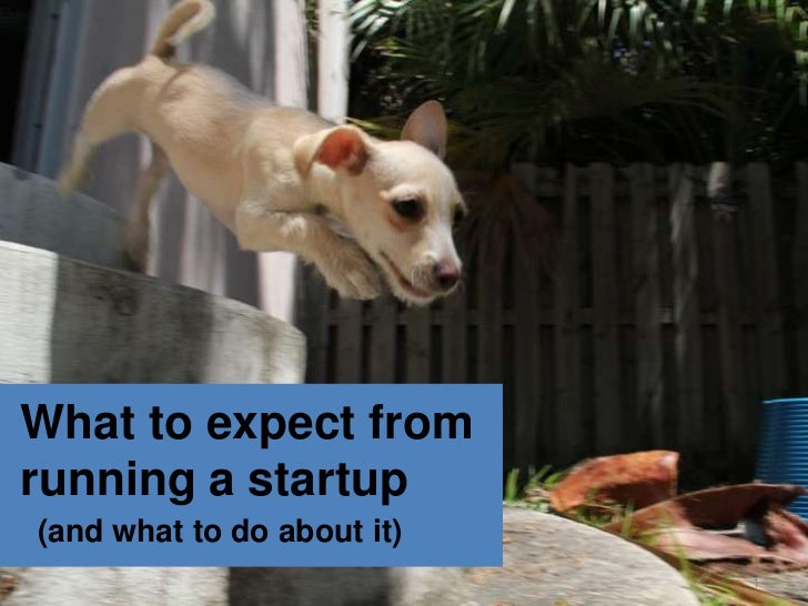 What to expect fromrunning a startup(and what to do about it)                            1