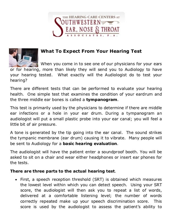 What To Expect From Your Hearing Test