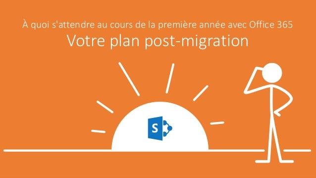 À quoi s'attendre au cours de la première année avec Office 365 Votre plan post-migration