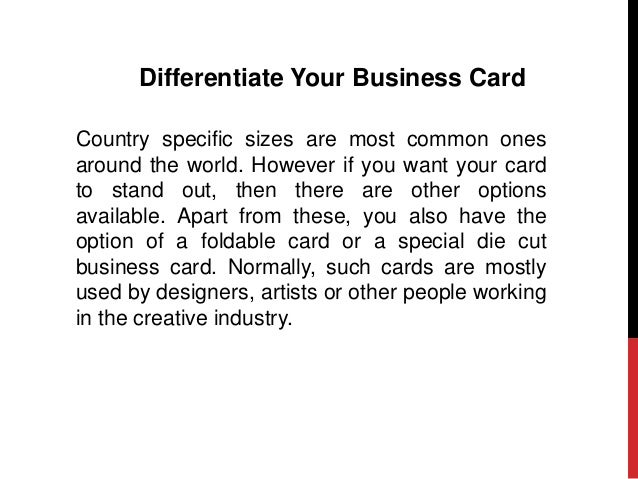 What to include in your business card 10 differentiate your business card country specific sizes are most common ones colourmoves