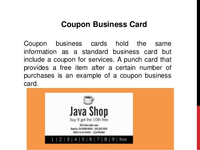 What to include in your business card 8 coupon business card colourmoves Gallery