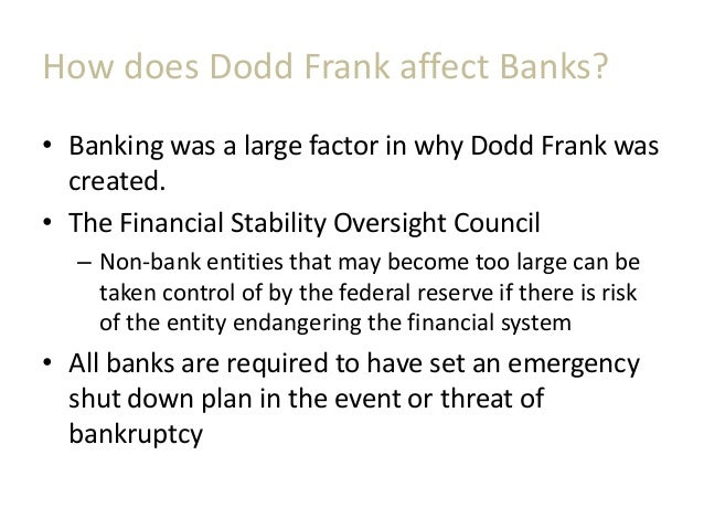 the dodd frank effect