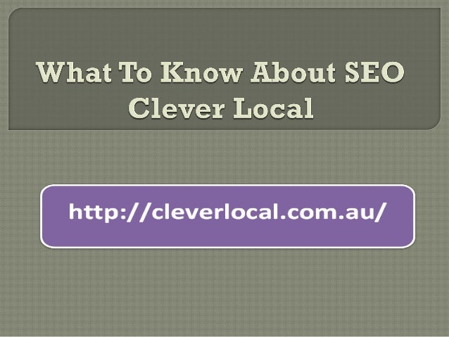    Clever local Search engine optimization is an    acronym for the term search engine optimization,    a term that is ma...