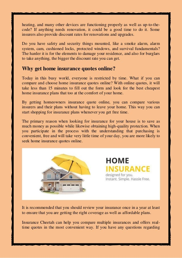 What To Look For In Homeowners Insurance Quote Online