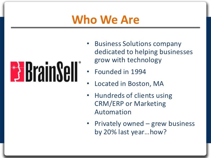 Who We Are  • Business Solutions company    dedicated to helping businesses    grow with technology  • Founded in 1994  • ...