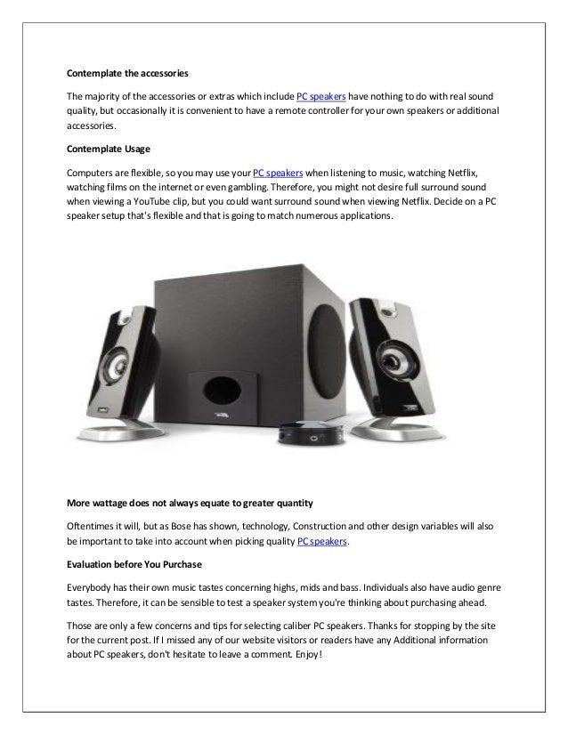 The Best Computer Speakers Under $50