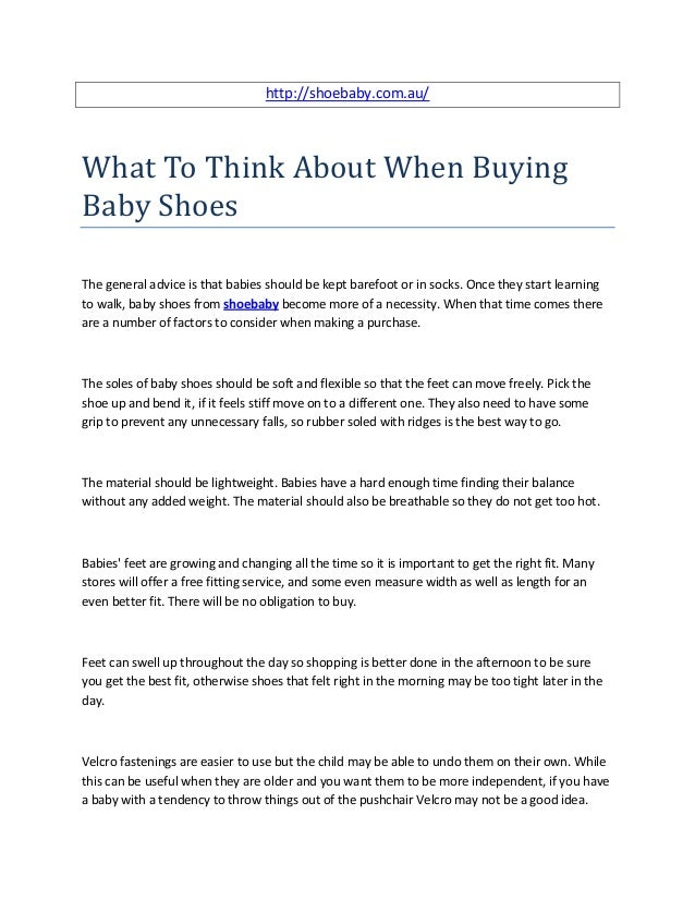 320366e39187 ... buying baby shoes. http   shoebaby.com.au What To Think About When  BuyingBaby ...