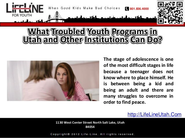 801.936.4000 What Troubled Youth Programs inUtah and Other Institutions Can Do?                                       The ...
