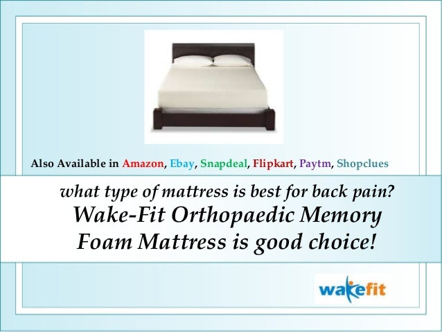 sports shoes 8bc89 ffbcf What type of mattress is best for back pain wake-fit ...